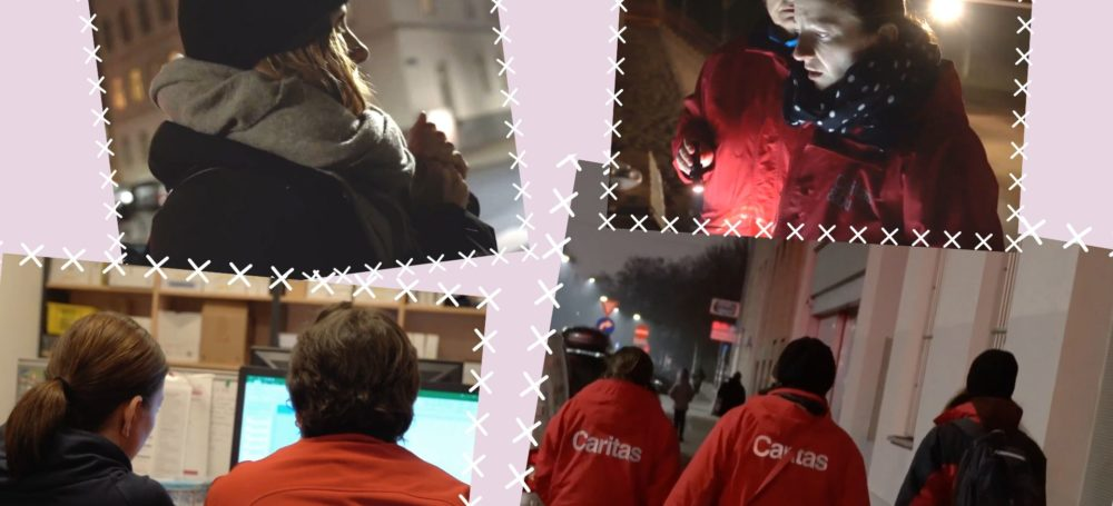 Wir waren einen Abend mit dem Caritas Kältebus in Wien unterwegs