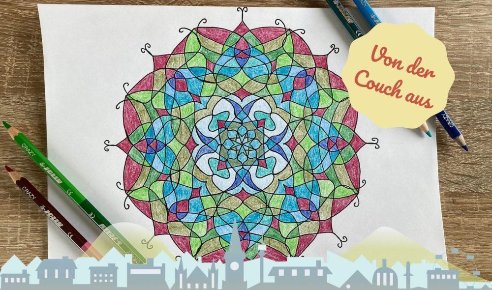 Von der Couch aus: So zeichnest du Mandalas ohne Vorlage