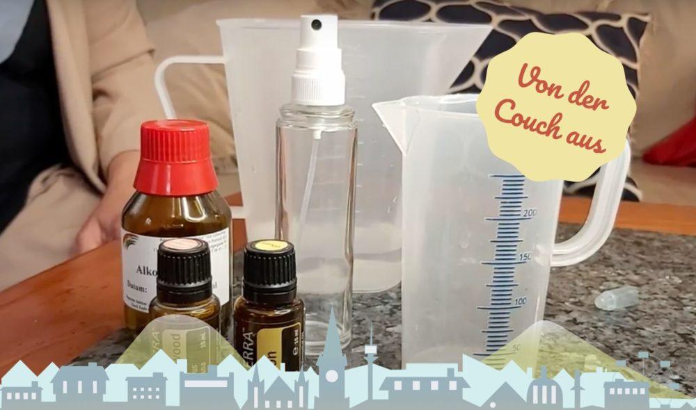 Von der Couch aus: Desinfektionsspray selber machen