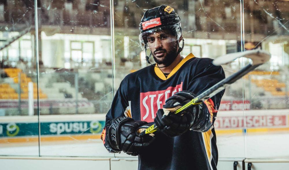 Ein Eishockeyspieler sauehrlich: Ali Wukovits