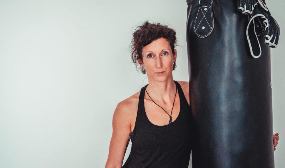 Eine Stuntfrau sauehrlich: Cornelia Dworak