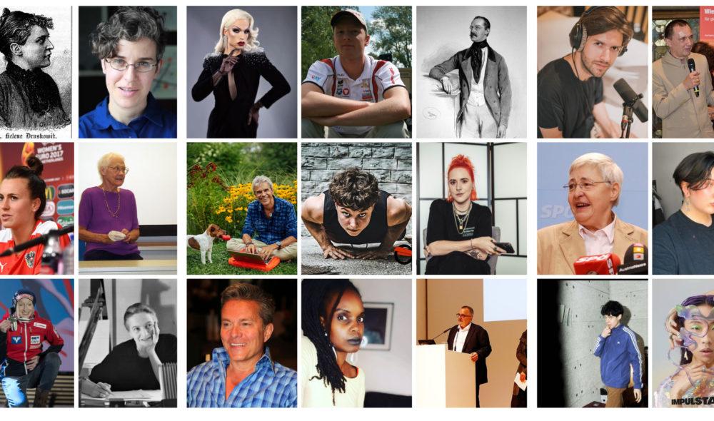 32 Menschen aus der LGBTQIA+ Community aus Österreich, von denen du dich 2021 inspirieren lassen solltest